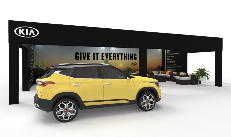 20x40 truss structure for Kia Seltos reveal at 2019 LA Auto show