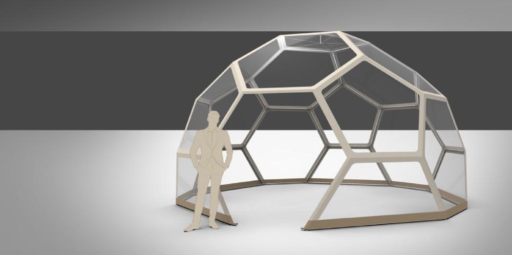 event dome setup - installing cover