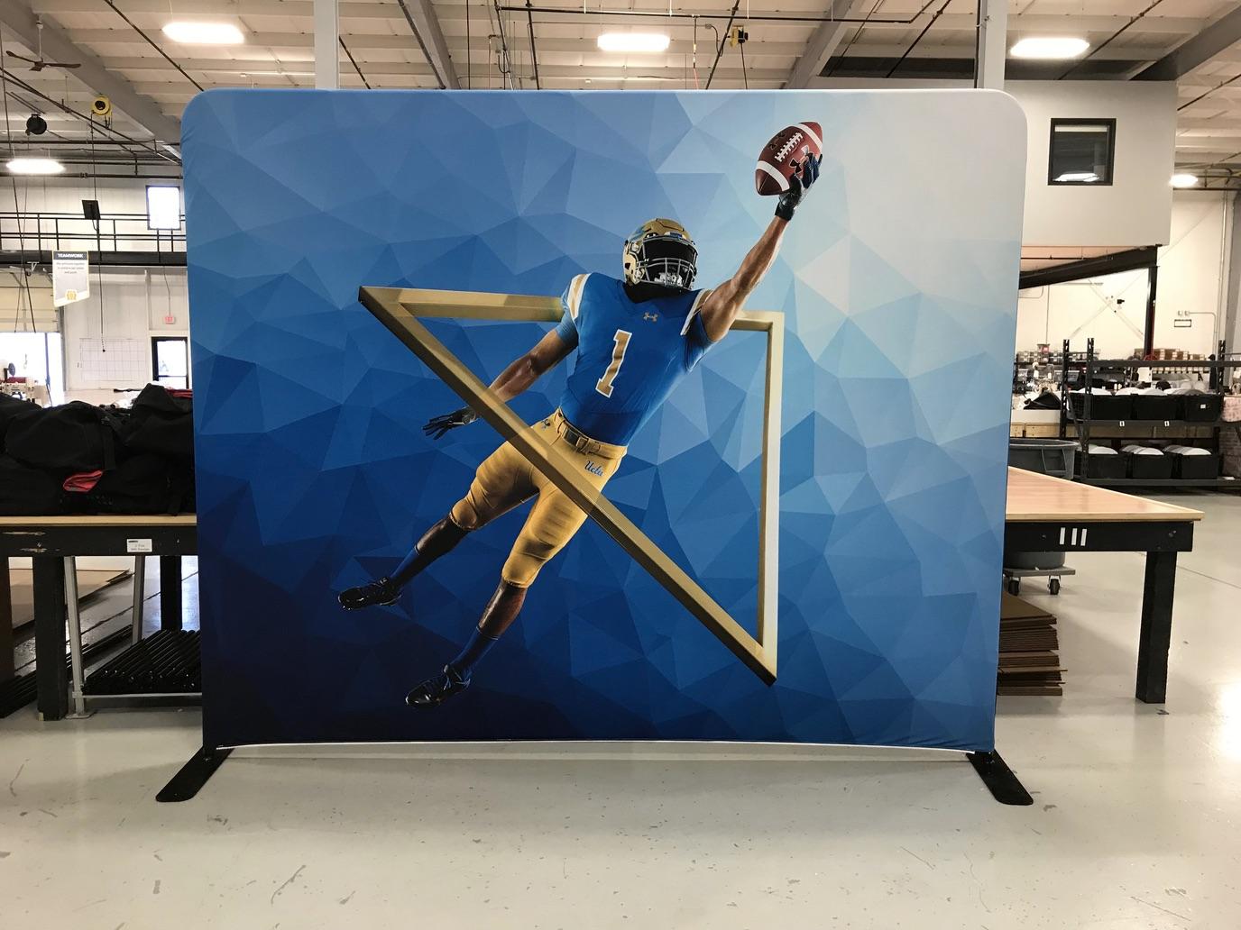 UCLA football media backdrop