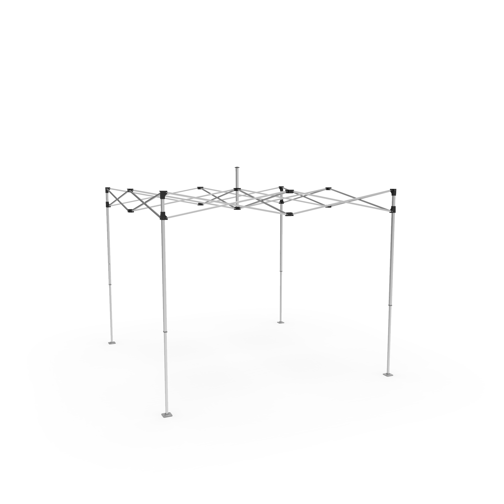 heavy duty aluminum popup tent frame with plastic connectors