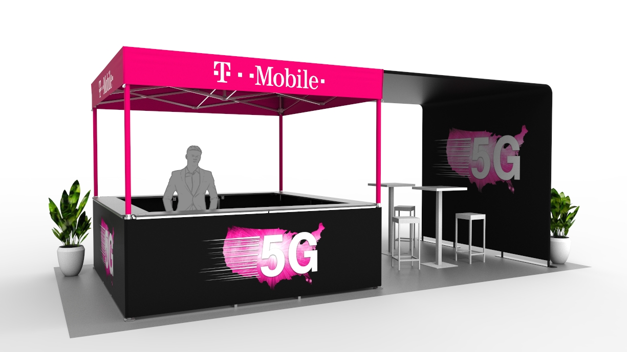 rendering of a t-mobile 5g event setup