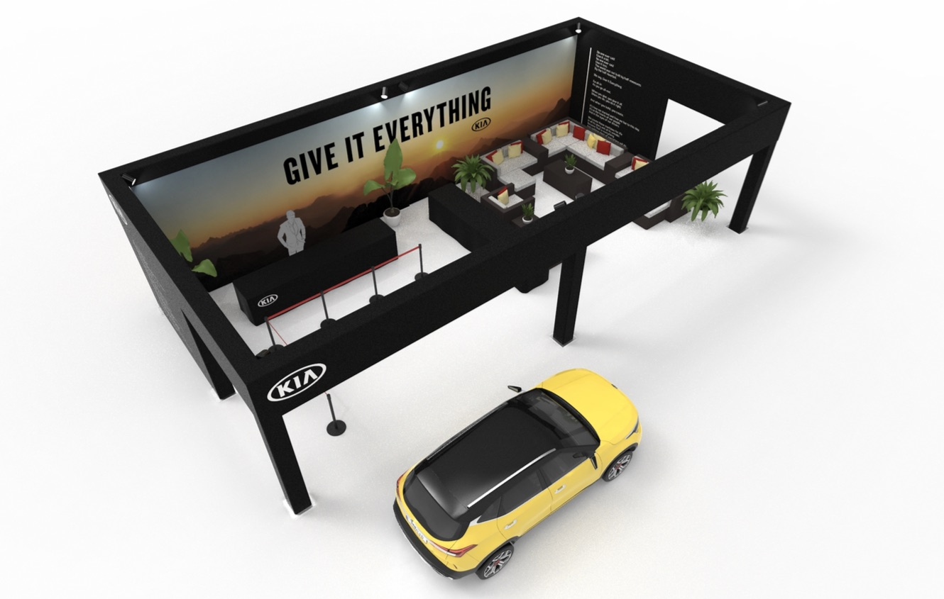 example of custom experiential manufacturing for Kia reveal