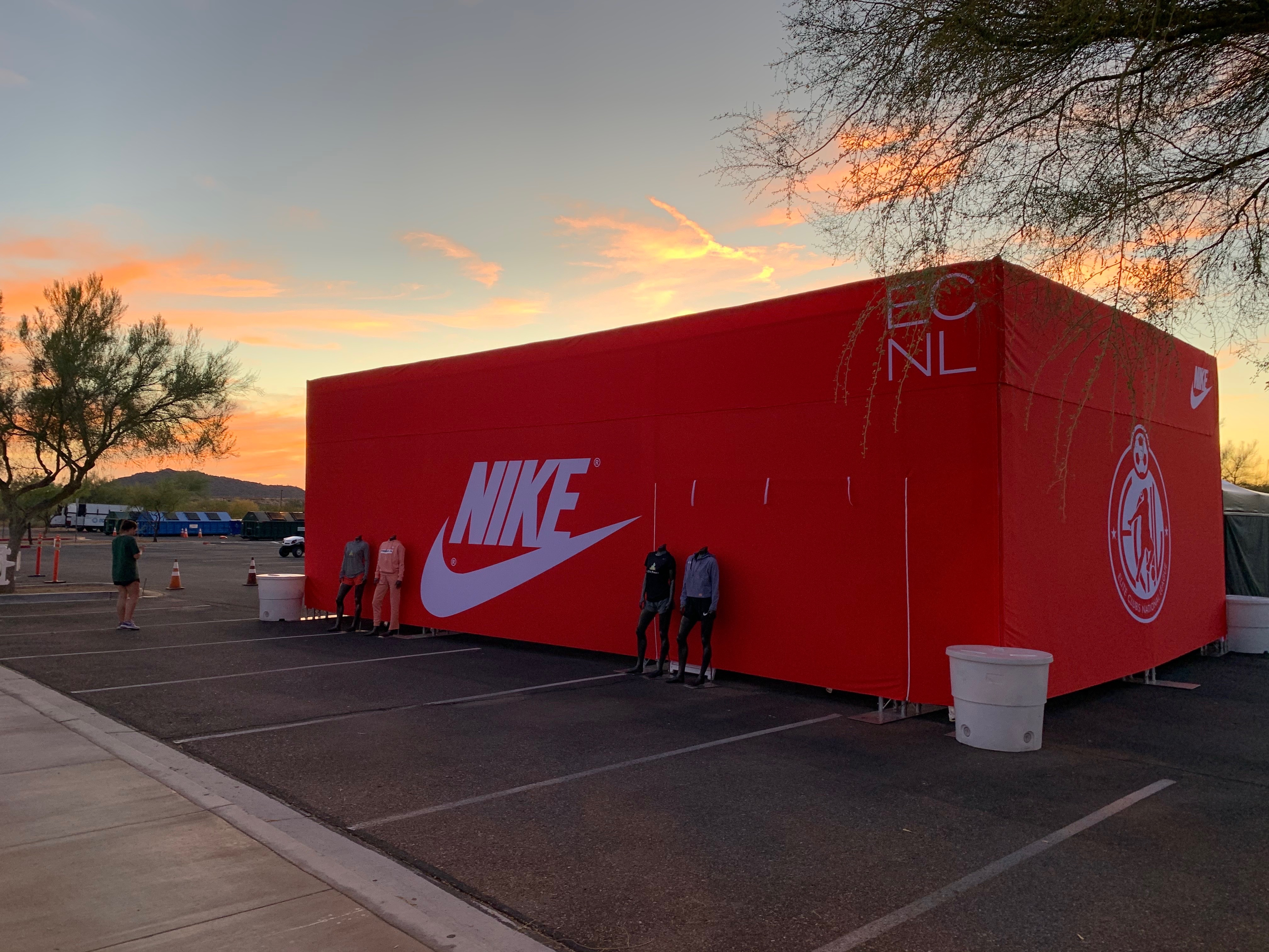 Nike shoebox experiential fabrication example