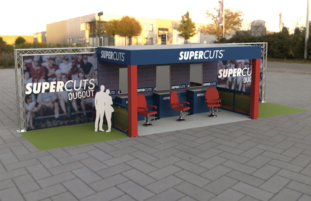 rendering for an experiential pop up activation