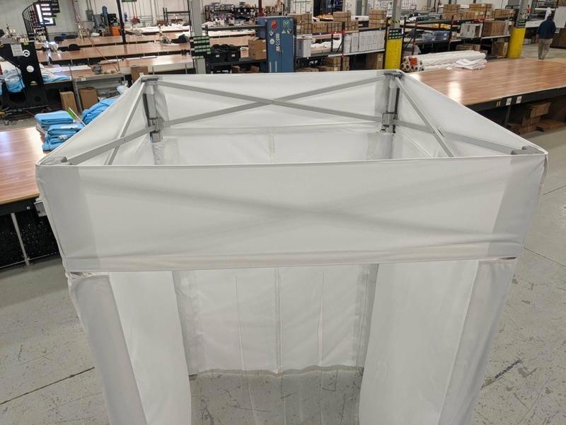 indoor portable temperature screening booths