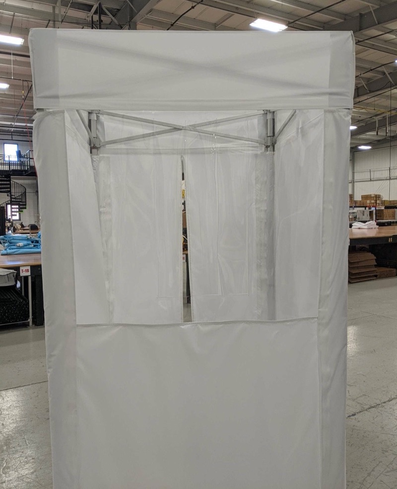 pop up temperature screening booths for employers