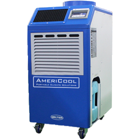 Single heating/ac unit ideal for event tents