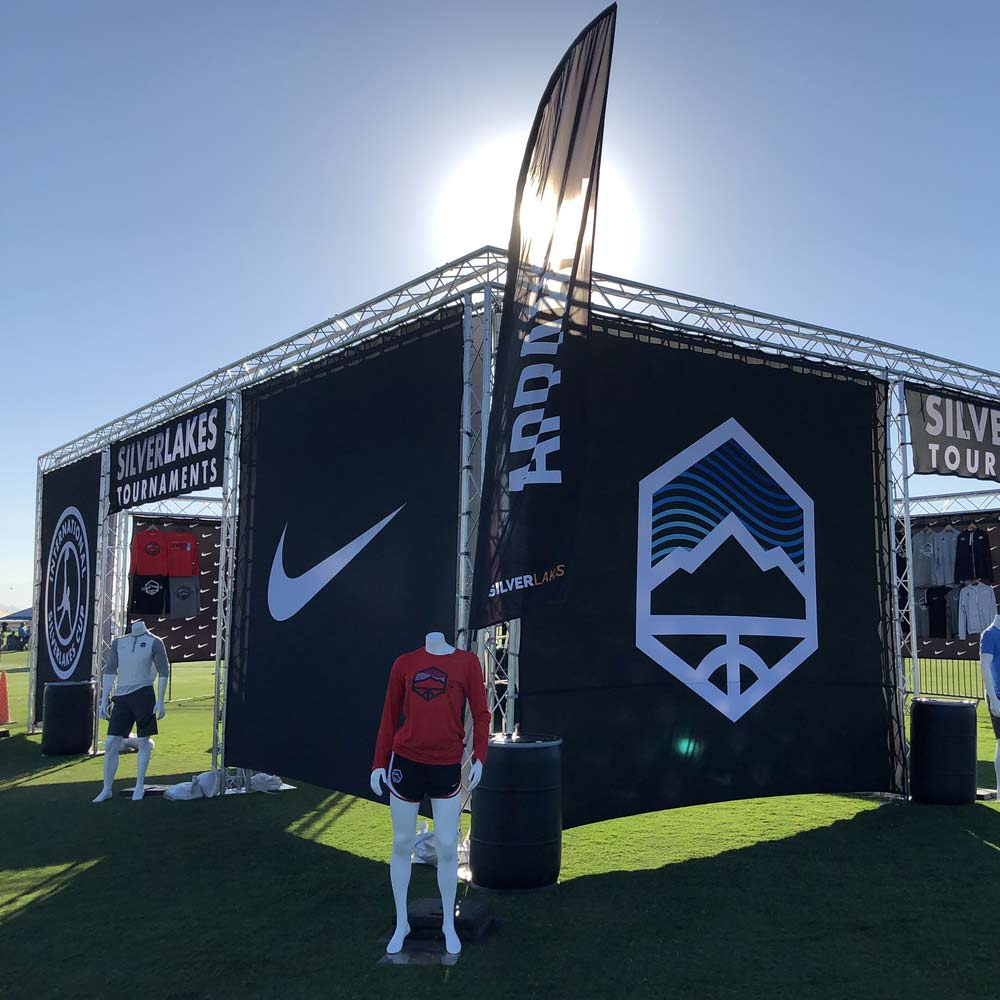 example of event truss structure for Soccer.com