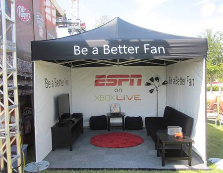 Full tent walls created for ESPN