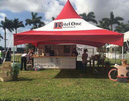 Frame tent custom made for brands like Ketel One.