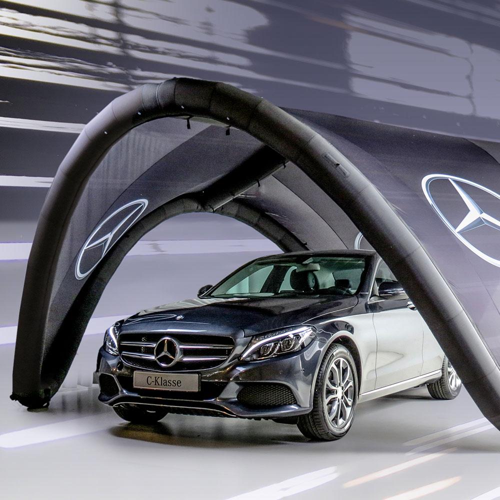 Mercedes Benz Signus Inflatable Tent.