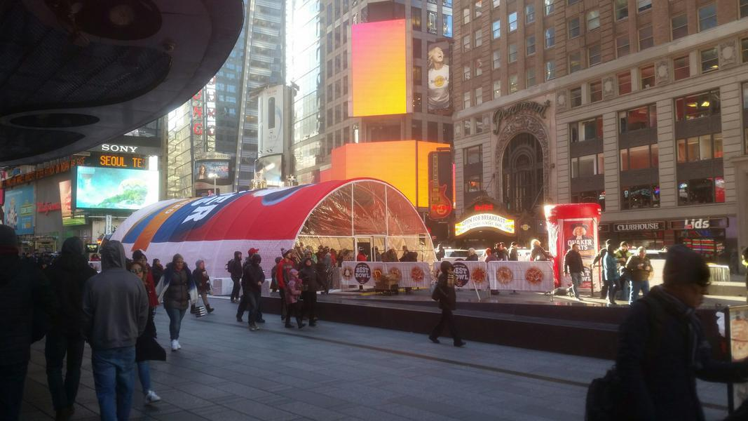 Quaker Oats product sampling experience in Times Square