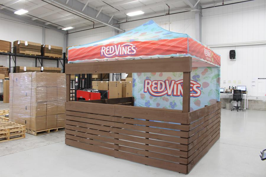 customized pop up tent for Red Vines experiential program