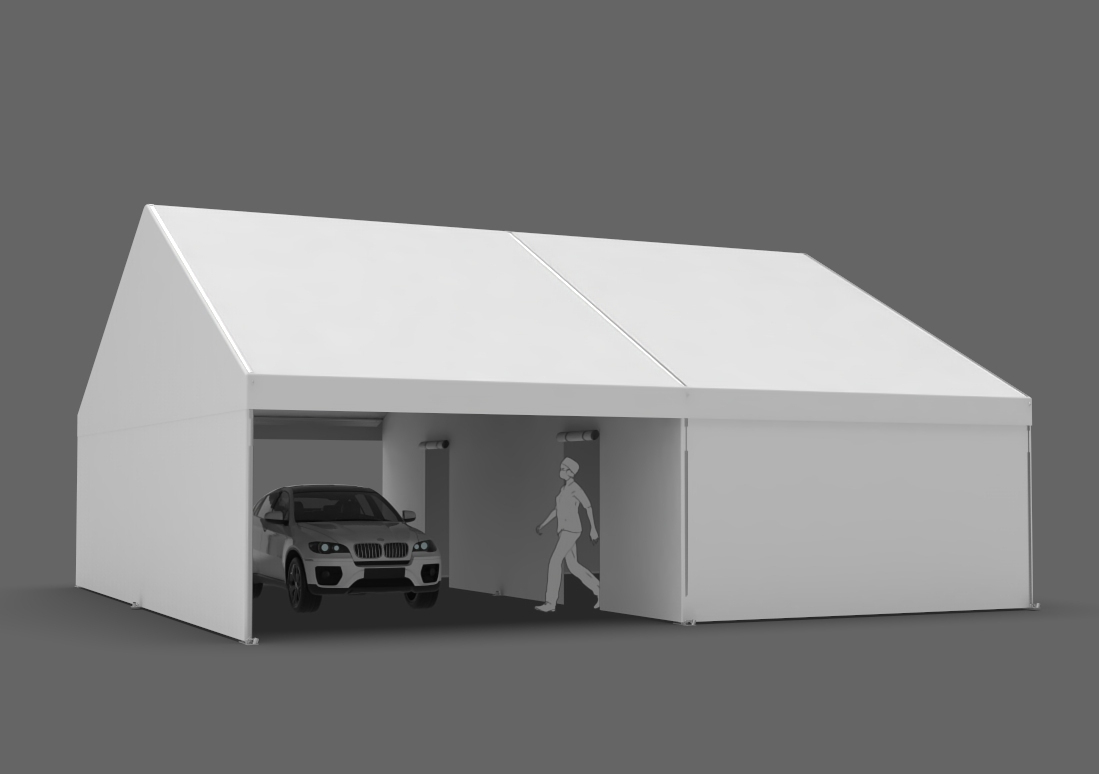 30x30 drive-thru medical tent for vaccinations and screening
